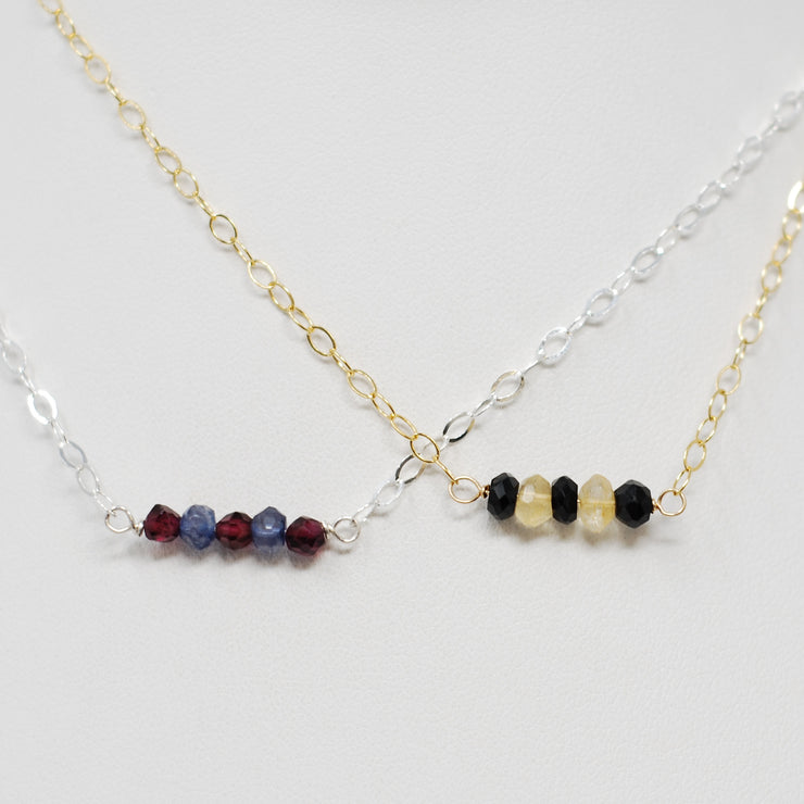Garnet & Navy Iolite School Spirit Necklace