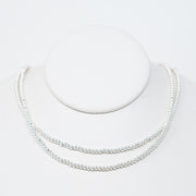 3mm Sterling Silver Beaded Wrap Necklace