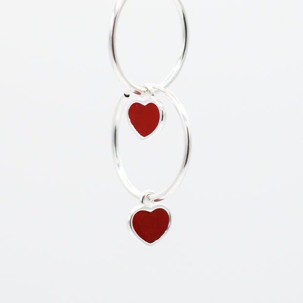Hoops & Red Heart Drops