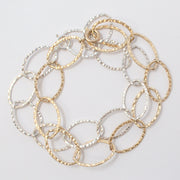 Sterling Silver & Goldfill Chain Bracelet Set