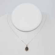 Gray Moonstone & Sterling Silver Necklace