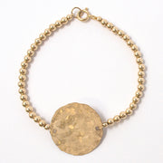 Goldfill Disc & Beaded Lux Bracelet Set
