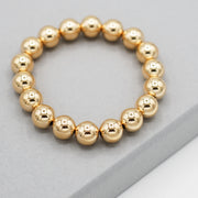 10mm 14k Goldfill Beaded Bracelet