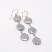 Freshwater Silver Metallic Earrings