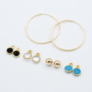 Hoop Earring & Bezel Set Drop Set