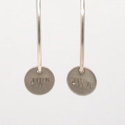 Monogram Sterling Silver Hoop Drops