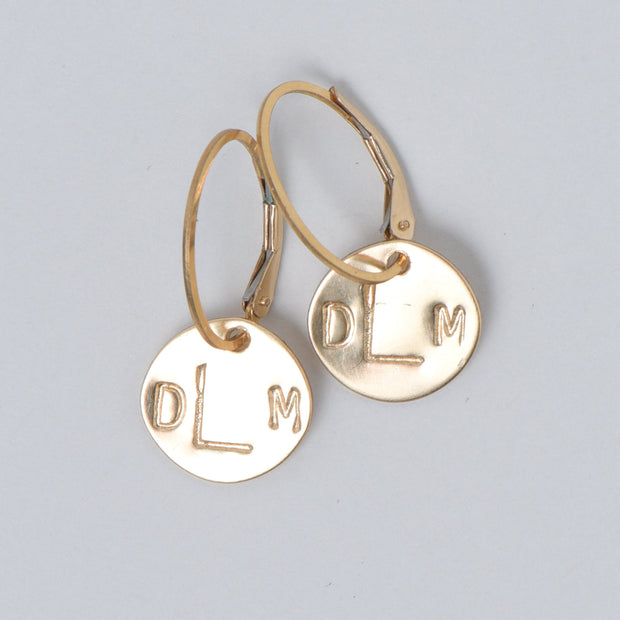 Clip Hoop & Monogram Drop Set