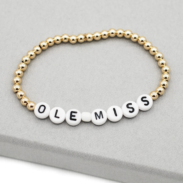 Personalized School Spirit Bracelet