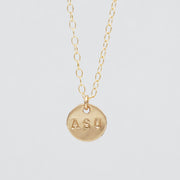 Personalized School 'ASU' 14k Goldfill Necklace