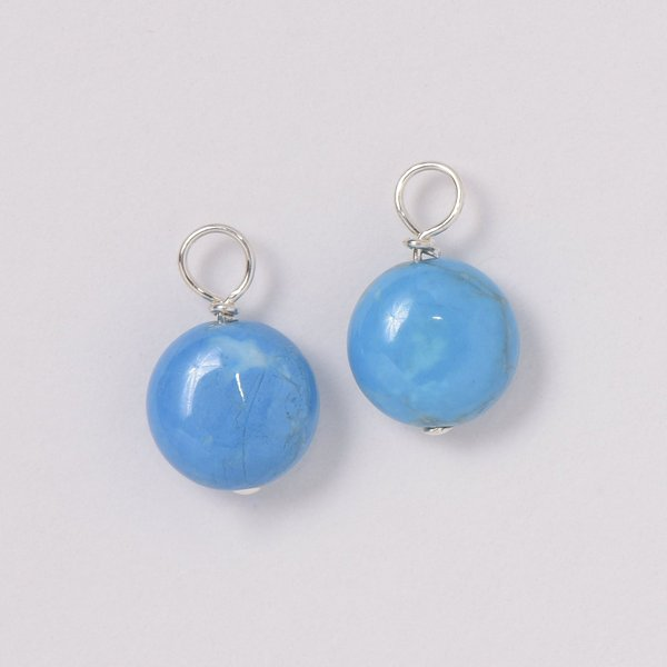 Bright Blue Turquoise Hoop Drops