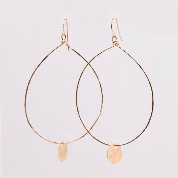 XL Goldfill Hand Shaped Earrings