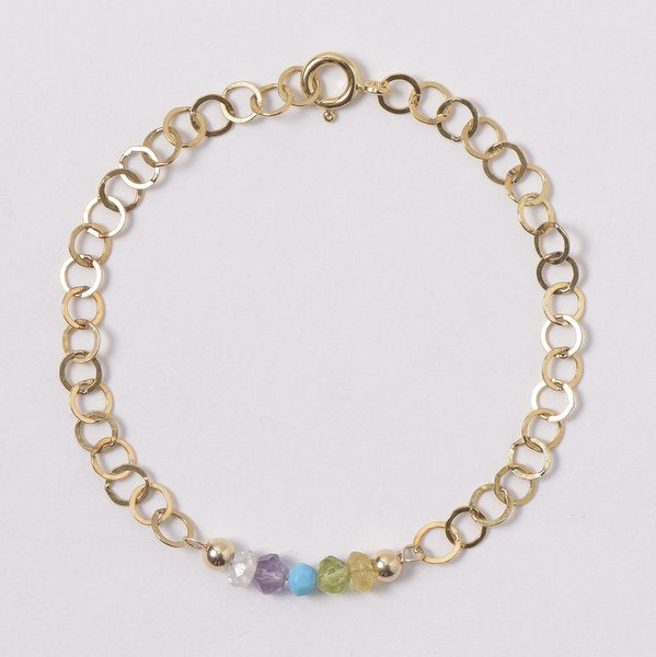 Custom Goldfill & Birthstone Bracelet