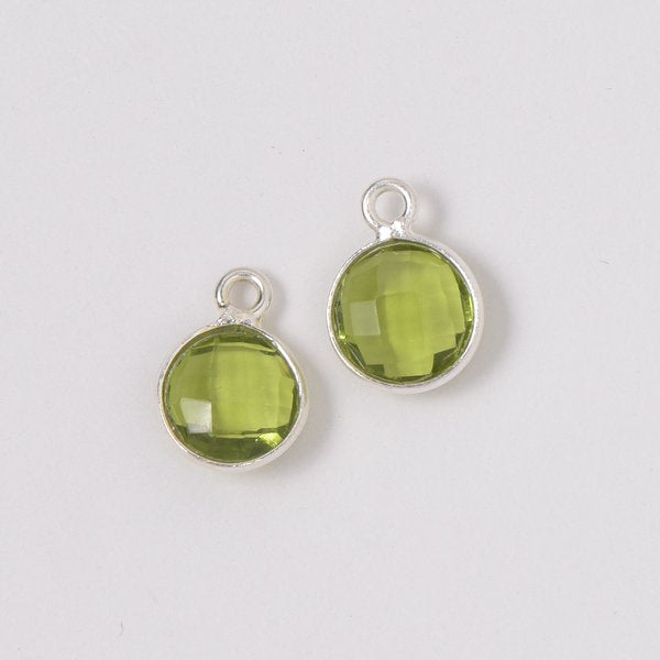 Green Quartz Hoop Drops
