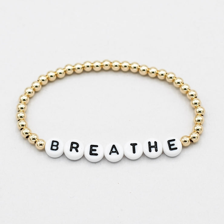 Mantra 'Breathe' Goldfill Bracelet