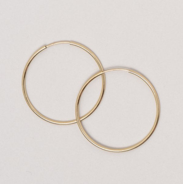 Large Goldfill Endless Hoop Earrings