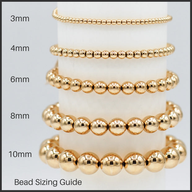 8mm & 10mm 14k Goldfill Beaded Bracelet