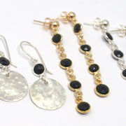 Black Onyx & Vermeil Earrings