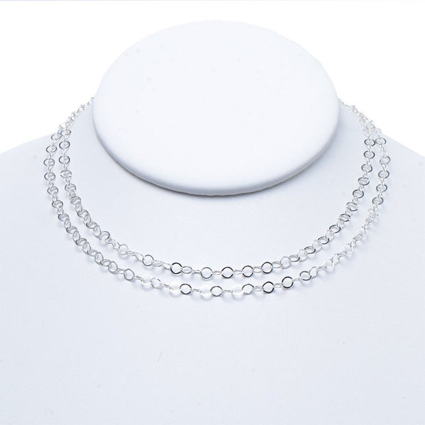 3mm Sterling Silver Long Chain