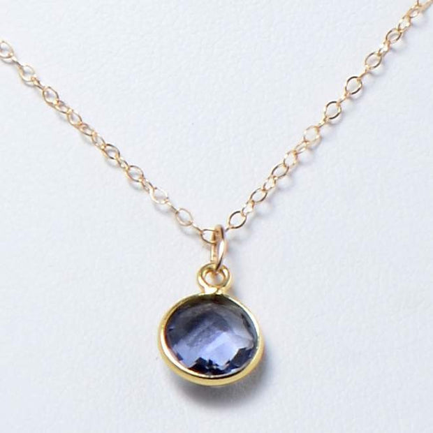 Navy Iolite & Goldfill Necklace