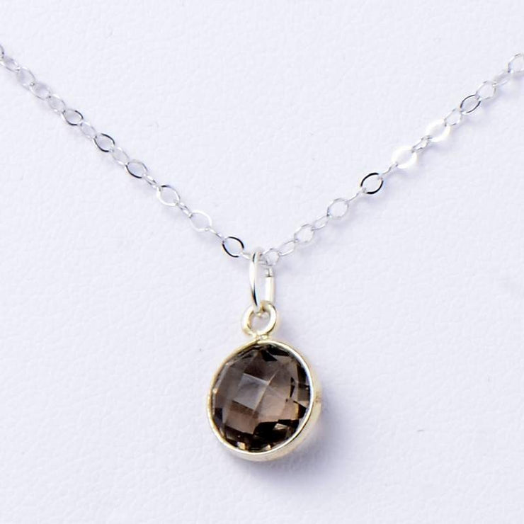 Smoky Quartz & Sterling Silver Necklace