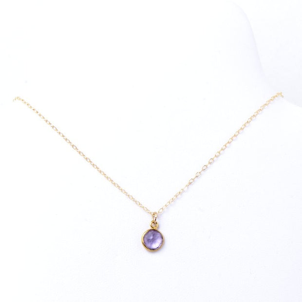 Amethyst & Goldfill Necklace