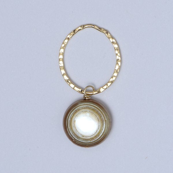 Gold Freshwater Pearl  Pendant