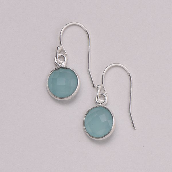 Lite Blue Chalcedony Earrings