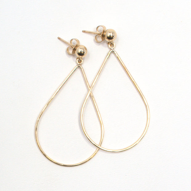 Goldfill Teardrop Post Earrings