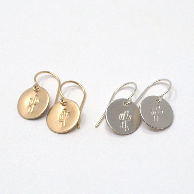 Cactus Goldfill Earrings