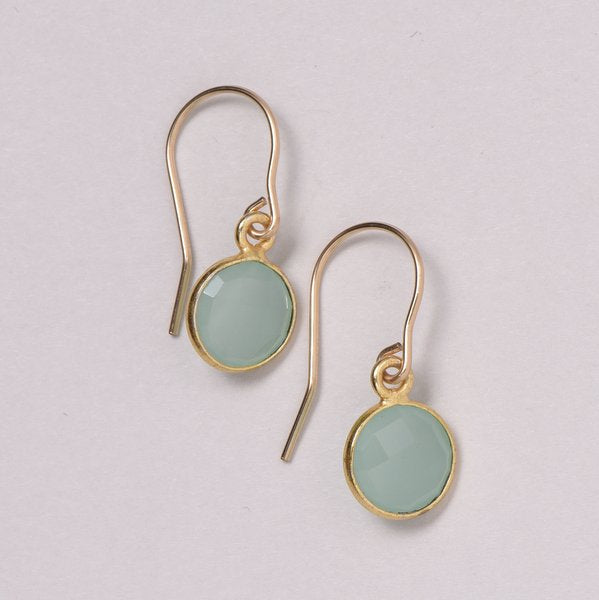 Lite Sea Green Chalcedony Earrings