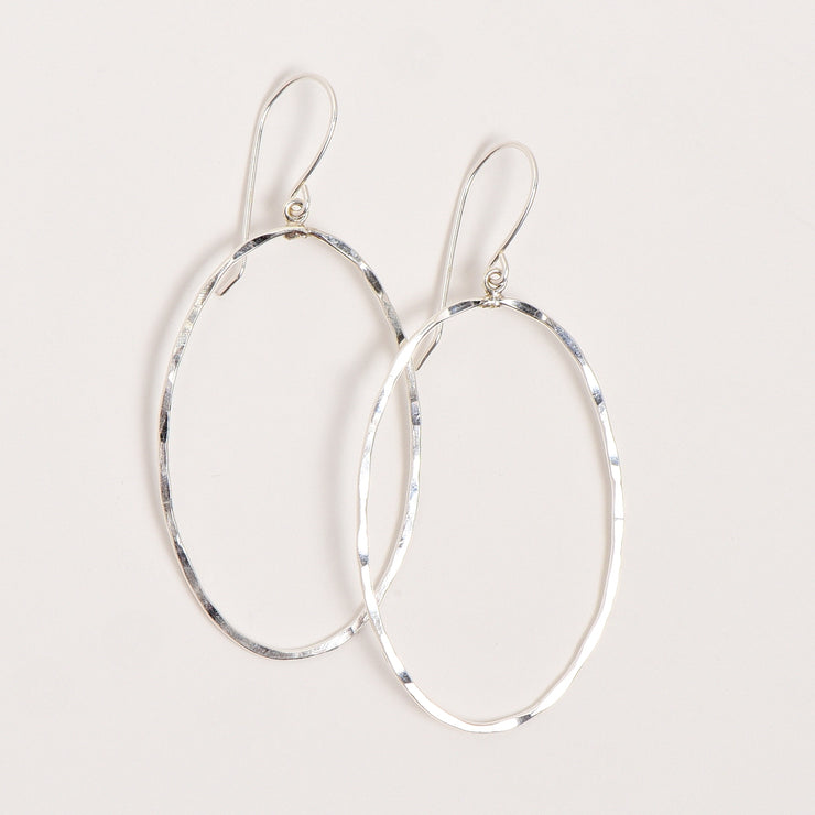 Sterling Silver Hammered Earrings