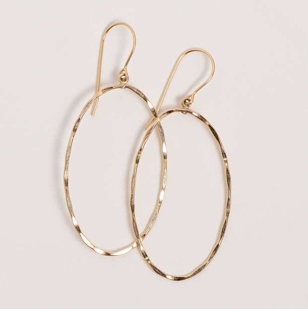 Goldfill Hammered Earrings