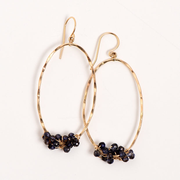 Goldfill & Iolite Wire Wrapped Earrings