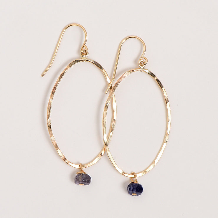 Goldfill & Iolite Earrings