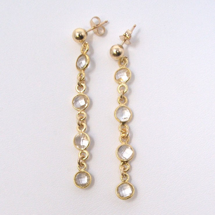 Crystal Quartz & Vermeil Earrings