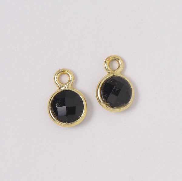 Black Onyx Hoop Drops