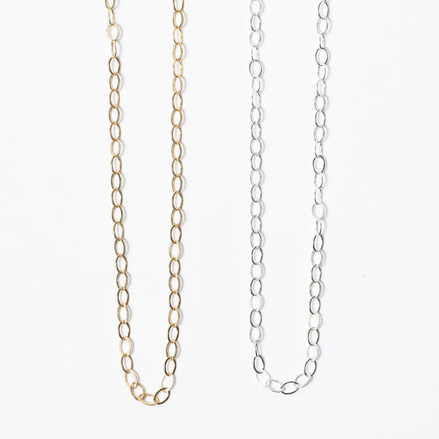 Petite Sterling Silver or Goldfill Chain