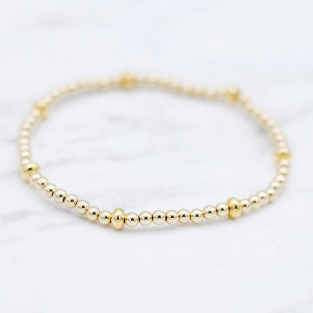 Goldfill Beaded Saucer Bracelet