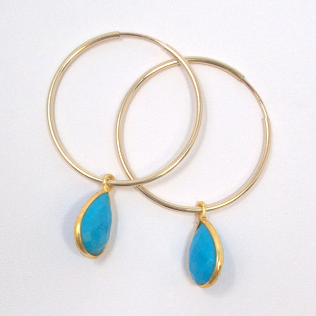 Hoops & Turquoise Drops