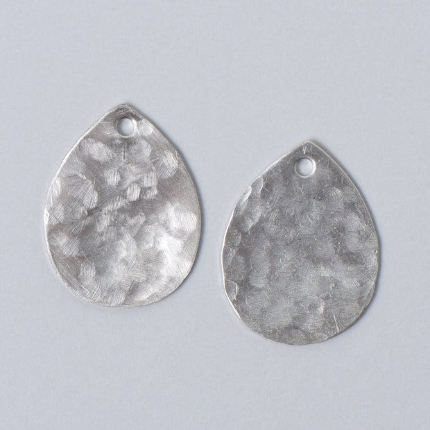 Sterling Silver Hammered Drops