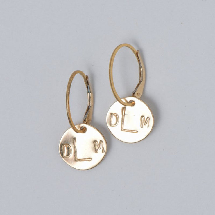 Monogram Goldfill Hoop Drops