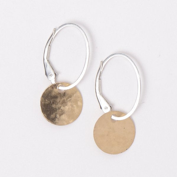 Goldfill Hammered Hoop Drops