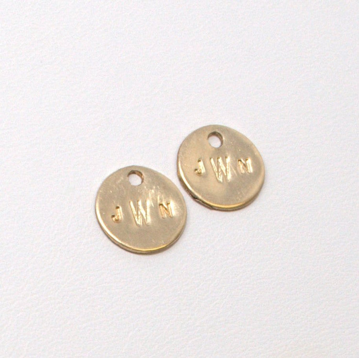 Personalized Goldfill Hoop Drops