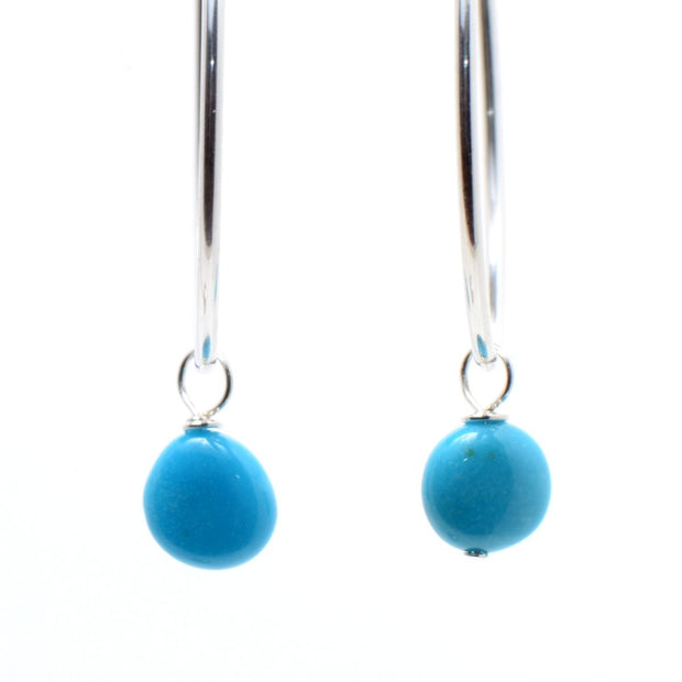 Sleeping Beauty Turquoise Hoop Drops