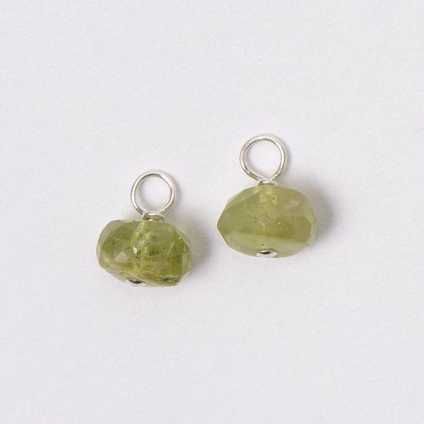 Natural Peridot Hoop Drops