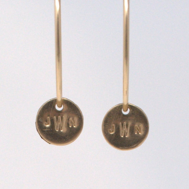 Goldfill Hoop & Monogram Drop Set