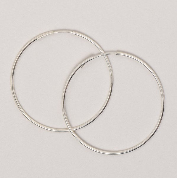 Extra Large Sterling Silver Endless Hoop Earrings