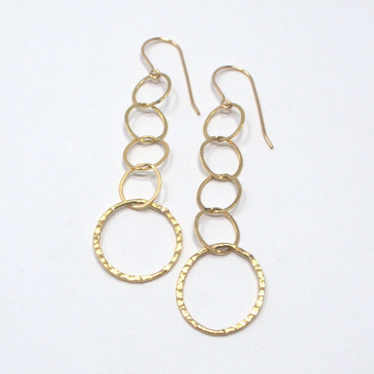 Goldfill Hammered Link Earrings
