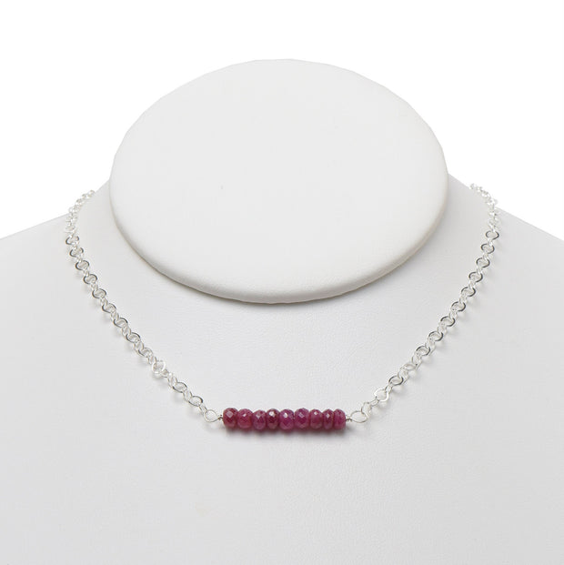Ruby & Sterling Silver Necklace