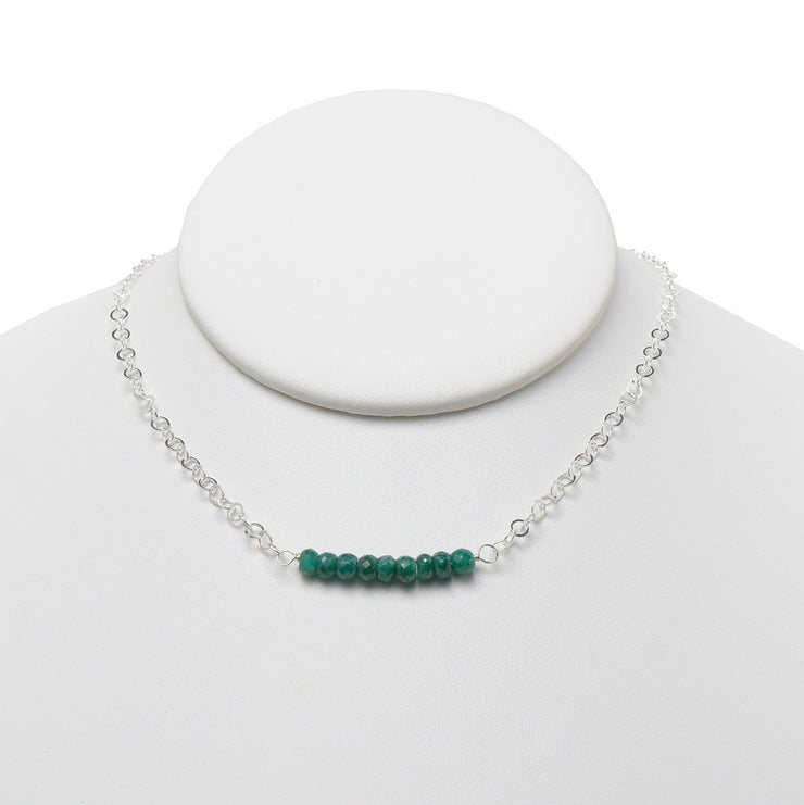 Emerald & Sterling Silver Necklace